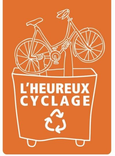Logo heureux cyclage